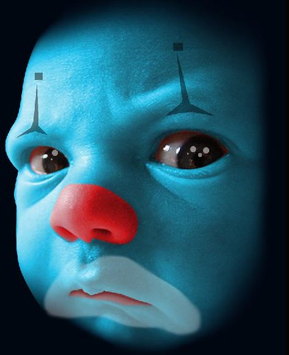 Baby Clown LiL PAYASO I took an image of a baby and