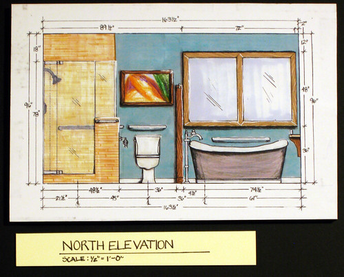 Residential Bath DesignNorth Interior Elevation  INTR 224  Flickr