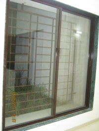 6 feet powder coated aluminium sliding window with a mosqu