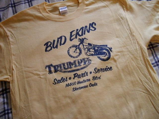 Retro Bud Ekins Replica Triumph Tshirt  I made a couple of  Flickr