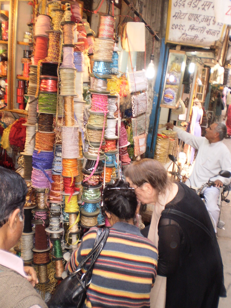 Chandni Chowk  Kinari Bazaar thread shop Delhi India 2