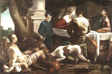 Jacopo Bassano Lazarus at the Rich Mans Feast ca 1554