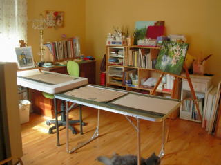 My Art RoomStudio  This is a shot at my art room In the