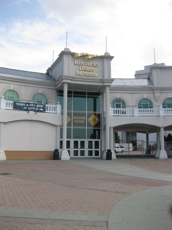 Entrance to Kentucky Derby Museum Museum was badly