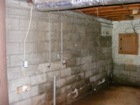 Co.Rd 31 house - partial, unfinished basement ...