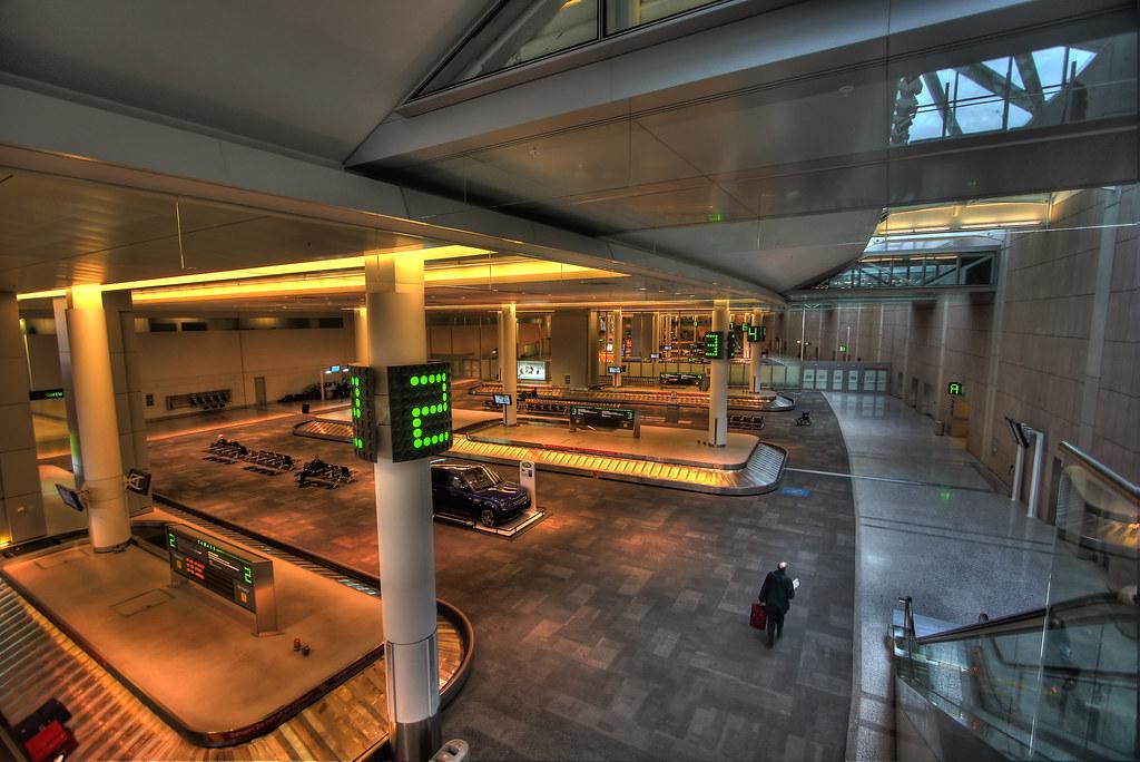 Baggage claim  Baggage claim carousel at Terminal One of