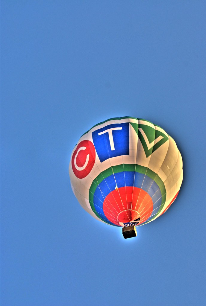 CTV Hot Air Balloon  CTV balloon flying low over the