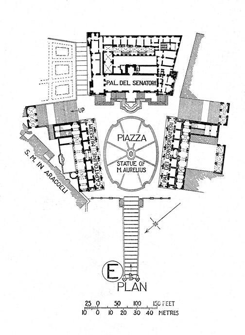 Piazza del Campidoglio Capitoline Hill plan  Title
