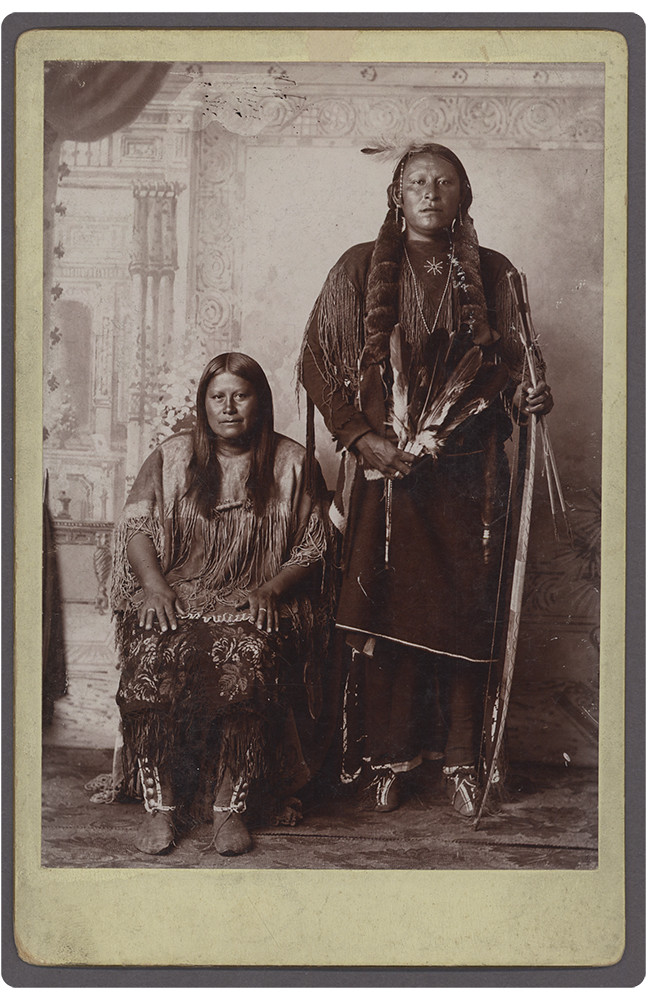 AuPia Goodle or Red Otter Kiowa Medicine Man and Wife