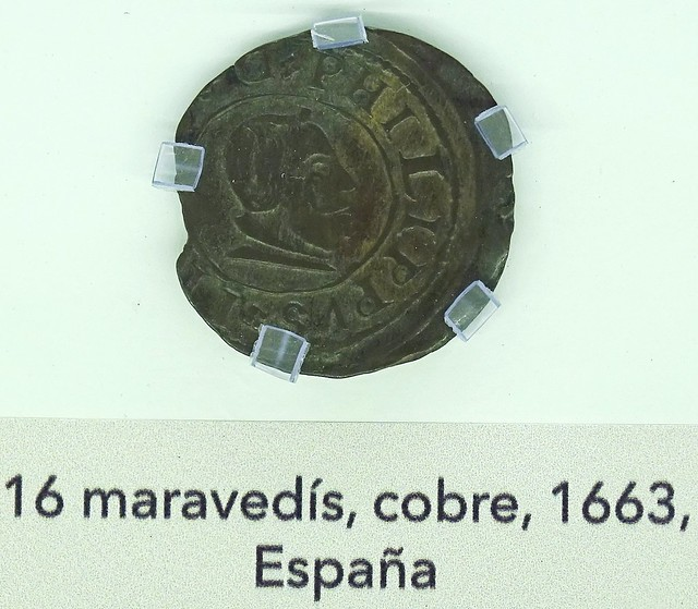 16 maravedis cobre España Moneda Siglo XVII Museo Numismatica Banco Central San Jose Costa Rica 03