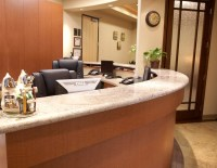 Dr. Smudde dental office reception desk | Design ...
