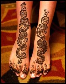 Leg Henna Tattoo Feet Designs