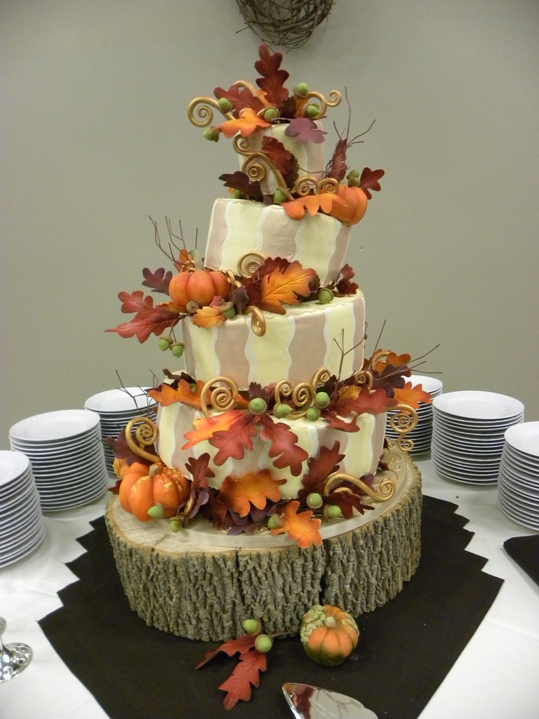Pumpkin Harvest Cake 1  Fun topsy turvy design Wedding