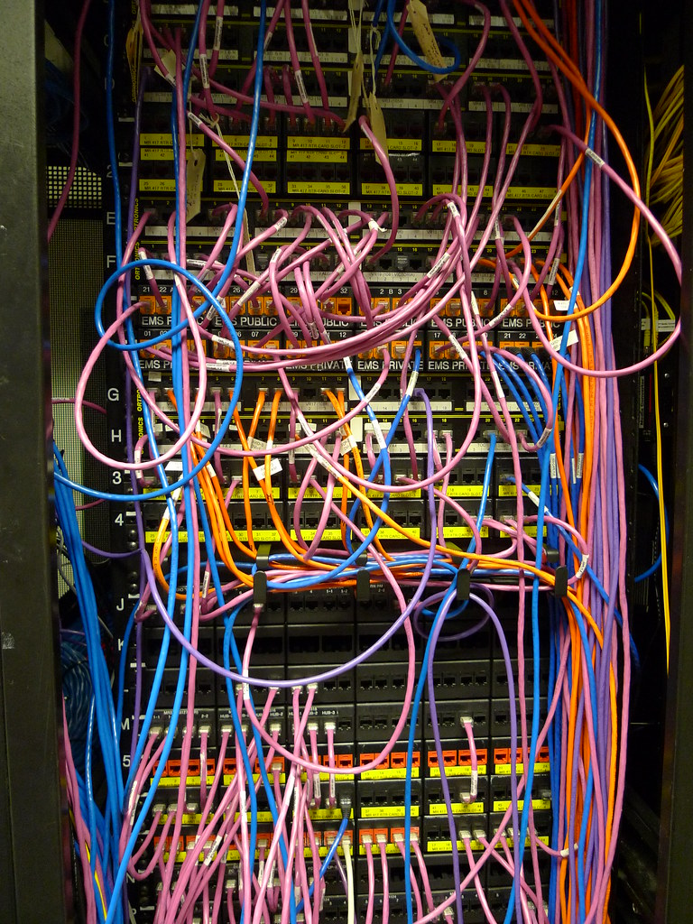 Network Cables Probably Our Messiest Area In The Server