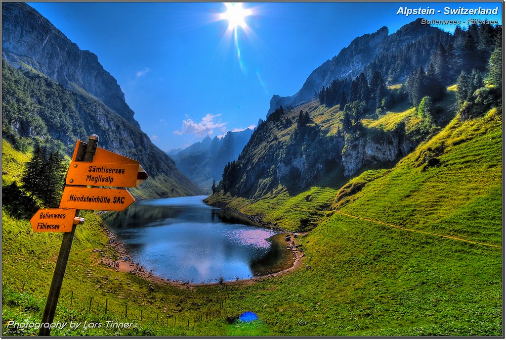 Foto Wallpaper 3d Alpstein Switzerland F 228 Lensee Hdr Bollenwees