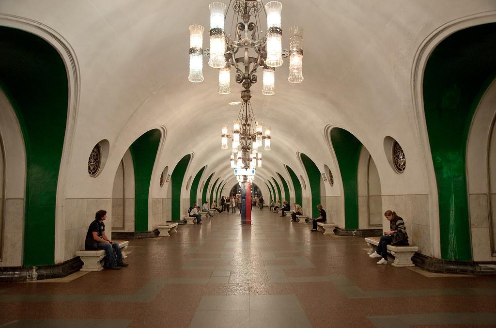 VDNKh Metro  Interior of the VDNKh metro station in the