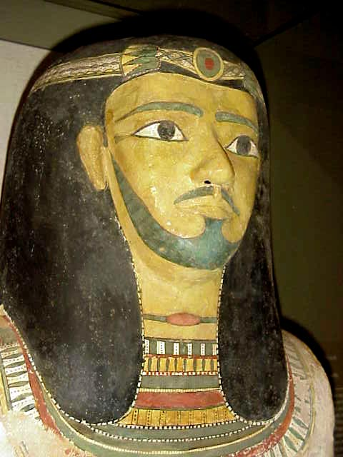 Cartonage mummy mask of High Egyptian Official Middle King