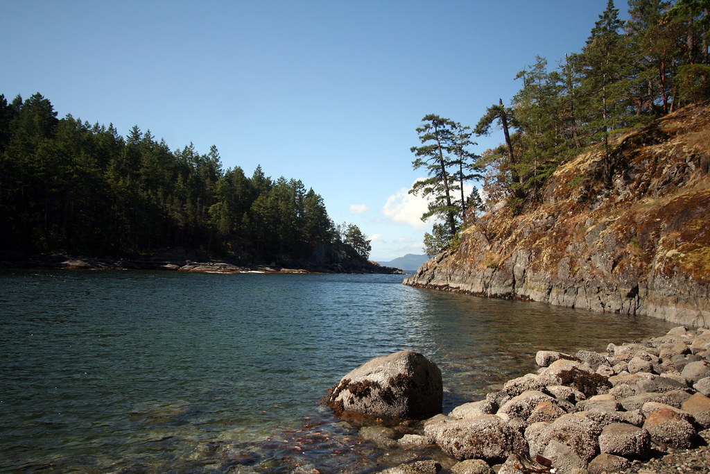 Sheltered bay Francis Point Provincial Park  Ruth
