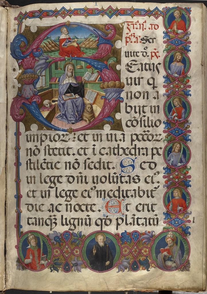 Psalterium cum Antiphonis Folio 1 recto  File name 09