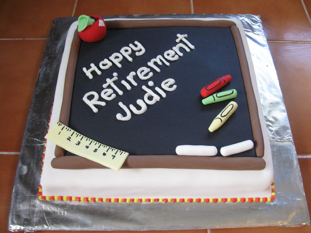 Teacher S Retirement Cake