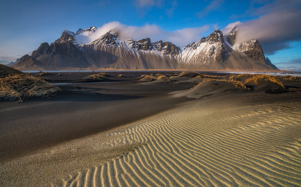 Beach Wallpaper Hd Rippled Sands Amp Ridges Stokksnes Mt Vestrahorn Icel
