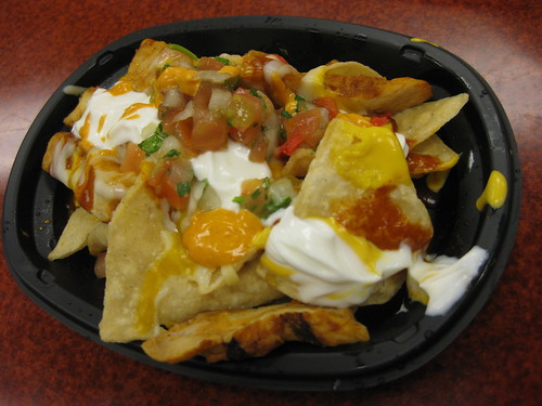Fully Loaded Cheesy Volcano Chicken Nachos from Taco Bell