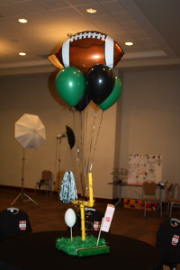 football centerpiece  Bama Balloons  Flickr
