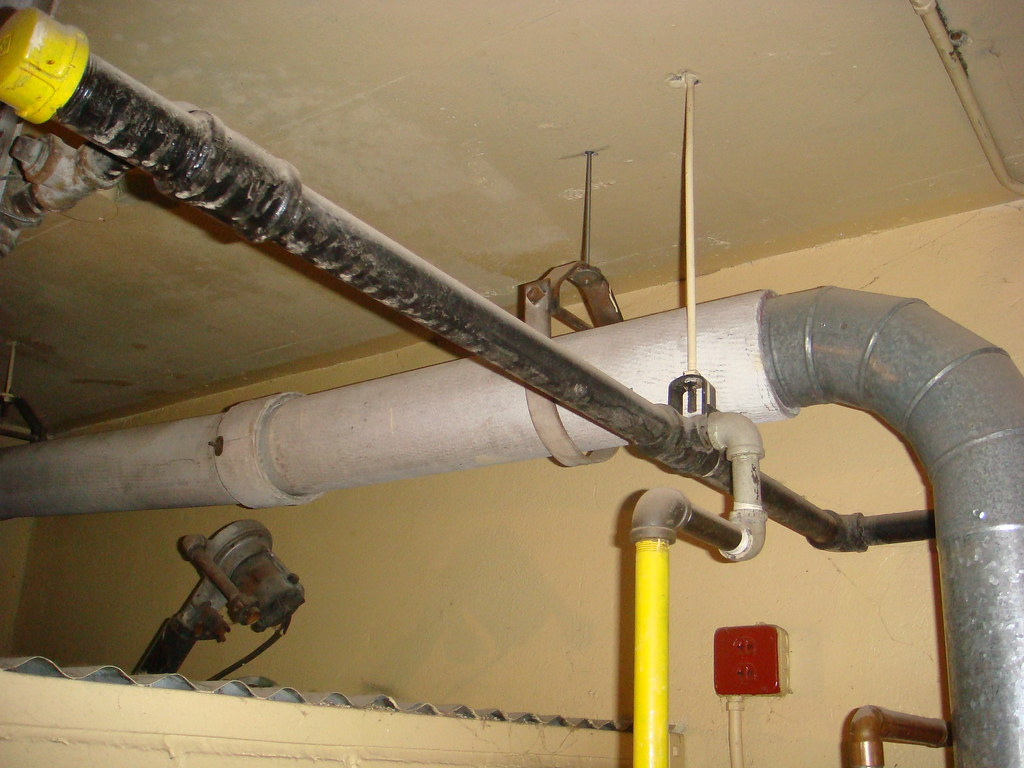 Transite Asbestos Exhaust Flue Pipe Vent   Example of asbest…   Flickr