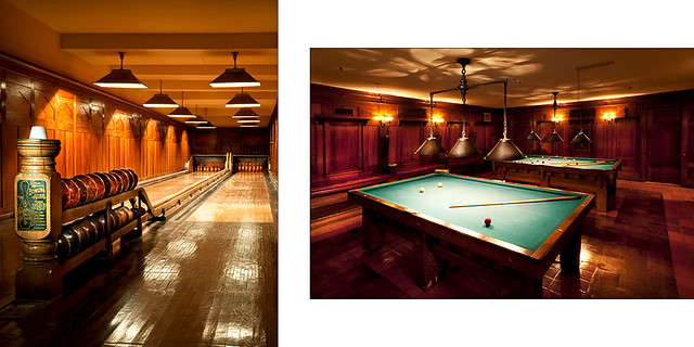 Nemours Mansion  Interior views of the bowling alley and