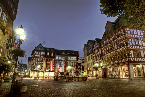 Old market place in Herborn  Germany  This is Herborn