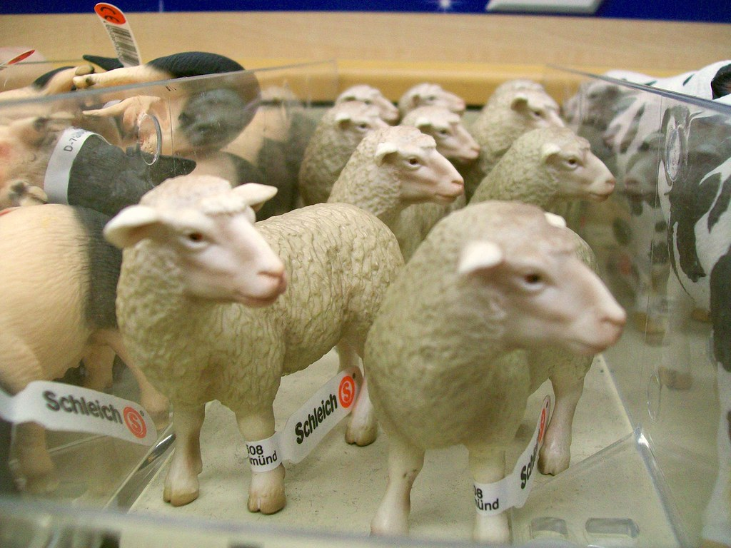 Sheep  Schleich animal figurines in Toys R Us  Peter OConnor aka anemoneprojectors  Flickr