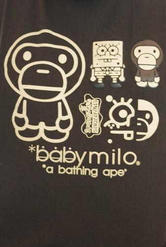baby milo a bathing ape squarepants spongebob