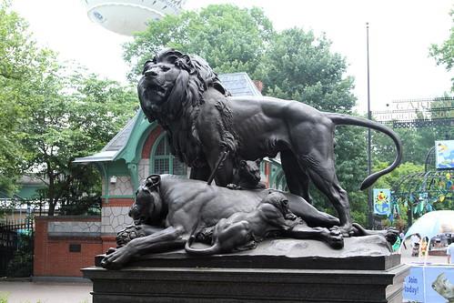 Philadelphia Zoo Entrance Lion Sculpture Jim The