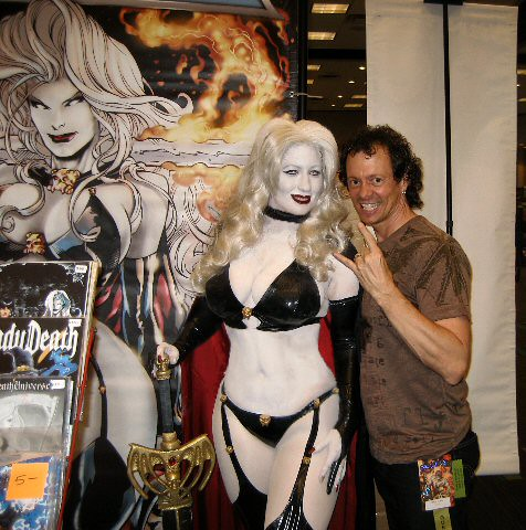 Lady Death with Brian Pulido  I love his expression  Flickr