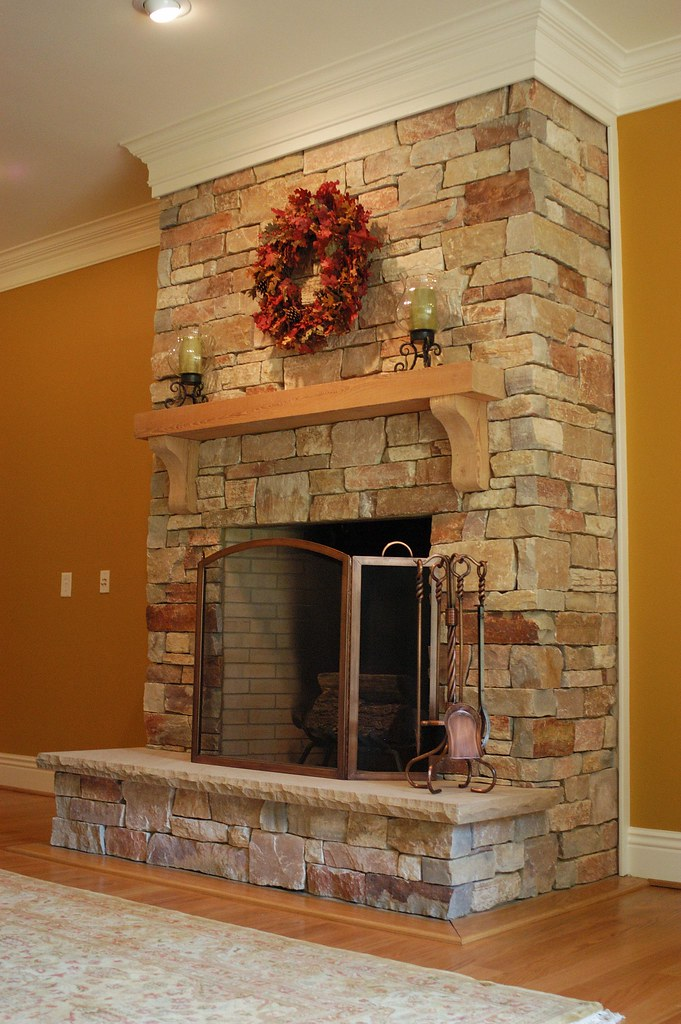 Chilton Rustic  This fireplace uses Buechel Stones