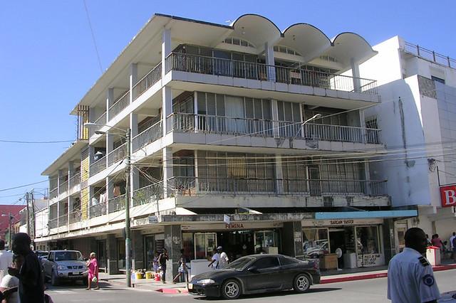 Belize  Downtown Southside  A business building