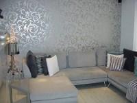 Elegant Grey Wallpaper Living Room | Post on Brunch at ...