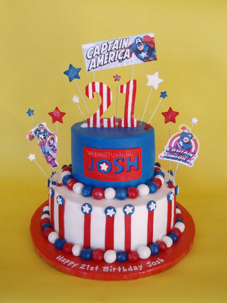 Captain America Birthday Cake Josh Is One Serious Comic
