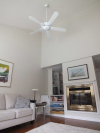 Living room - 2 | High, sloping ceiling for airy feel. Gas ...