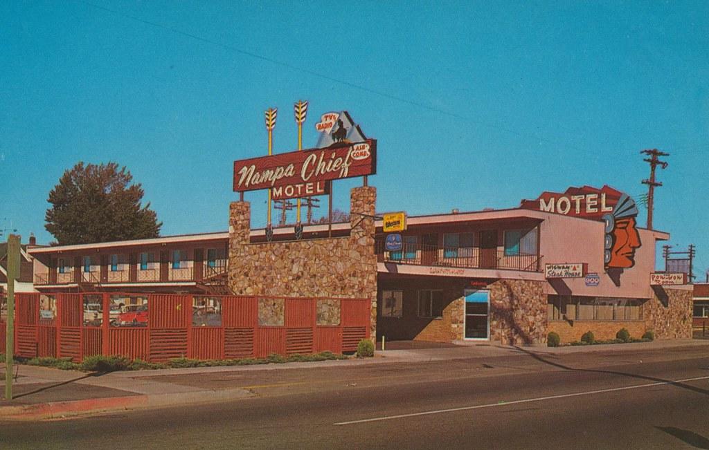 Nampa Chief Motel  Nampa Idaho  2 blocks from downtown