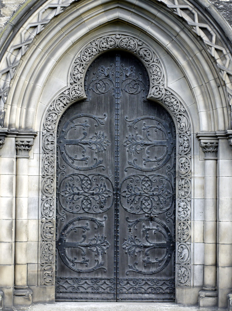 Victorian Gothic Door  Door on St Marys Cathedral