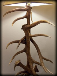5 elk antler floor lamp - 3 | I build these lamps part ...