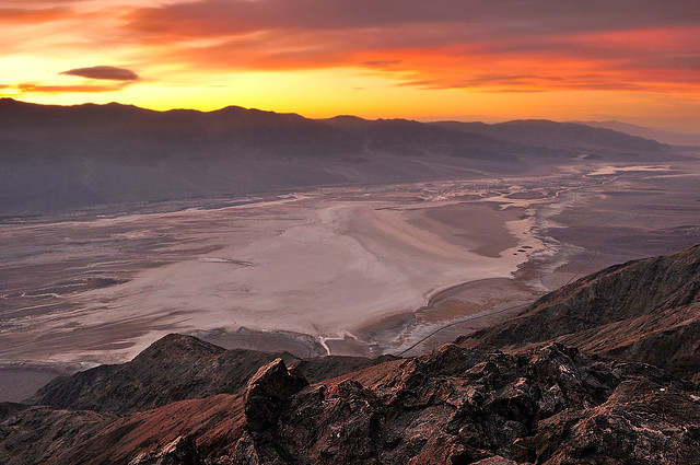 Sunset over Dantes View and Badwater Basin Death Valley   Flickr