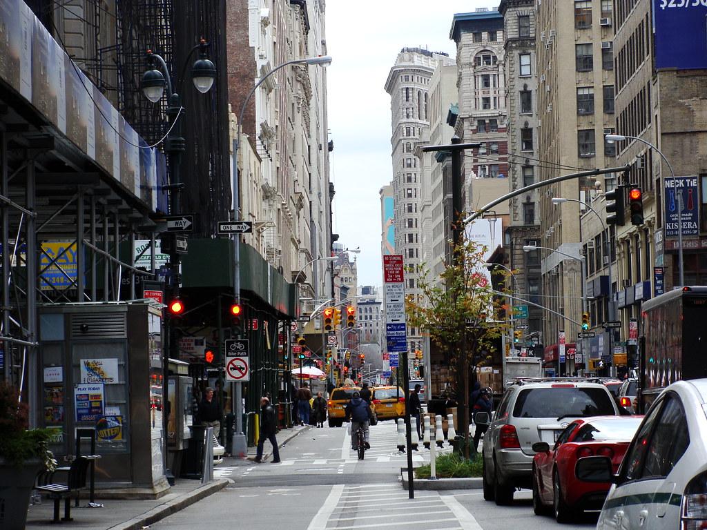 Broadway Streetscape  New York City  A Streetscape of