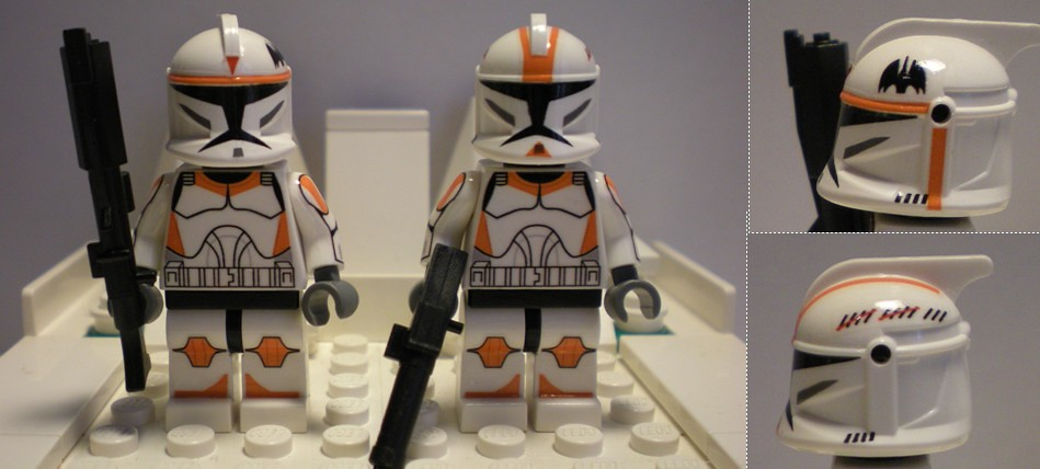 Lego Custom Boil et Waxer 212th Ghost Company  Home made