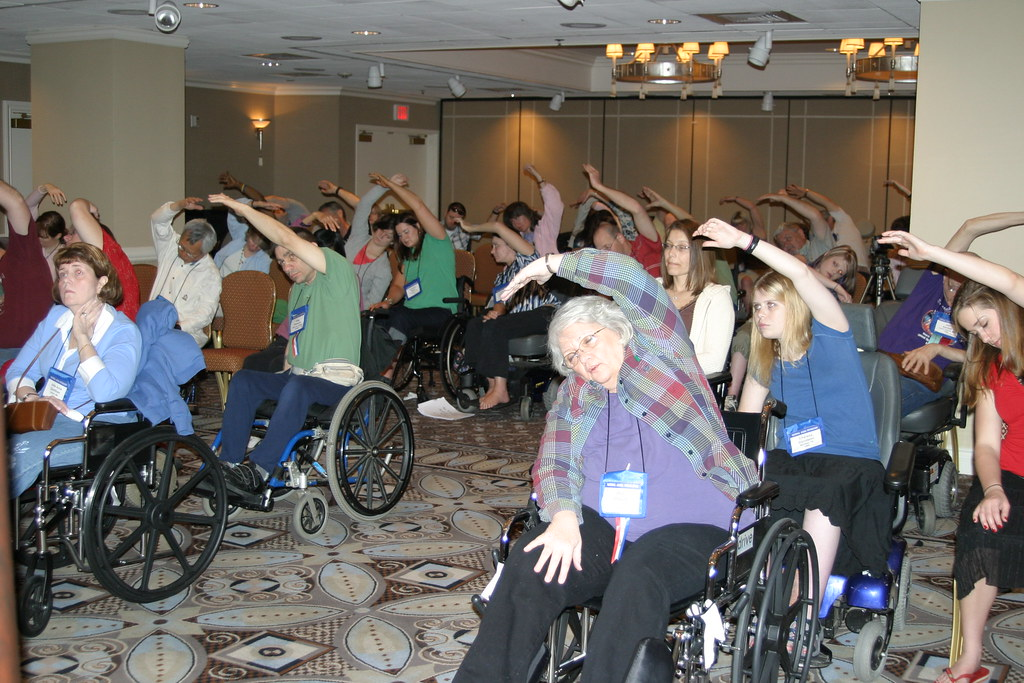Wheelchair Yoga Participants  Ralph Miller  Flickr