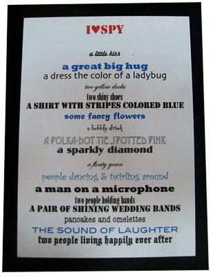 I Spy DIY Wedding Poem Blogged Wwwsomedayilllearn