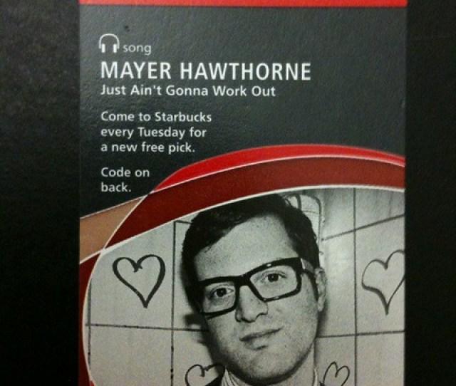 Starbucks Itunes Pick Of The Week Mayer Hawthorne Just Aint Gonna Work