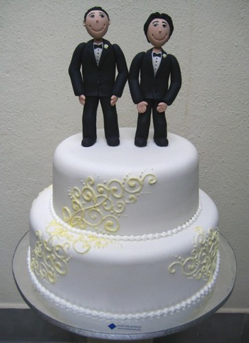 Gay Wedding Cake Two Guys Decided To Celebrate Their