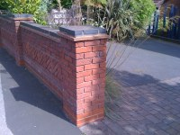 Blue brick top to garden wall more | Blue brick topped ...